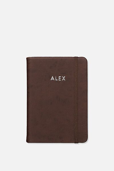 Personalised A6 Buffalo Journal, RICH TAN