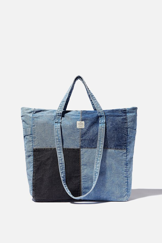 The Studio Tote Bag Patched Up, DENIM PATCHWORK