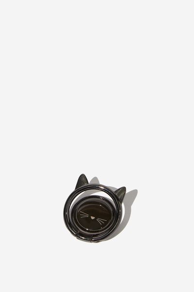 Metal Phone Ring, BLACK CAT