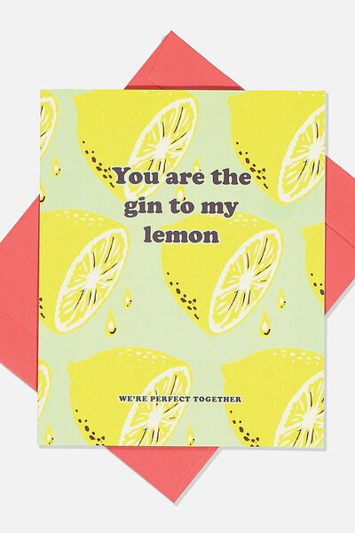Premium Love Card, SCENTED GIN TO MY LEMONS