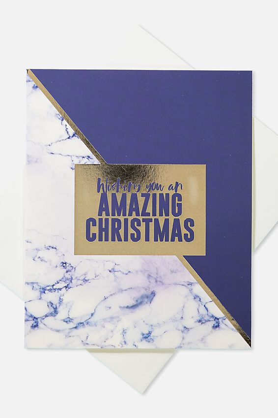 2018 Christmas Card, MARBLE SPLICE AMAZING CHRISTMAS