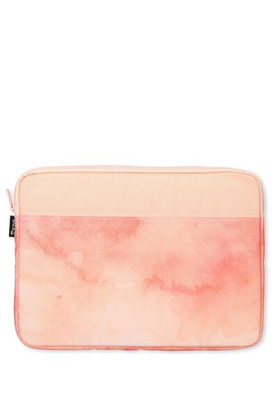 Your Freshie Laptop Case, CORAL WATERCOLOUR