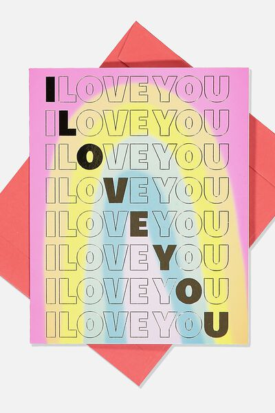 Love Card, RAINBOW I LOVE YOU