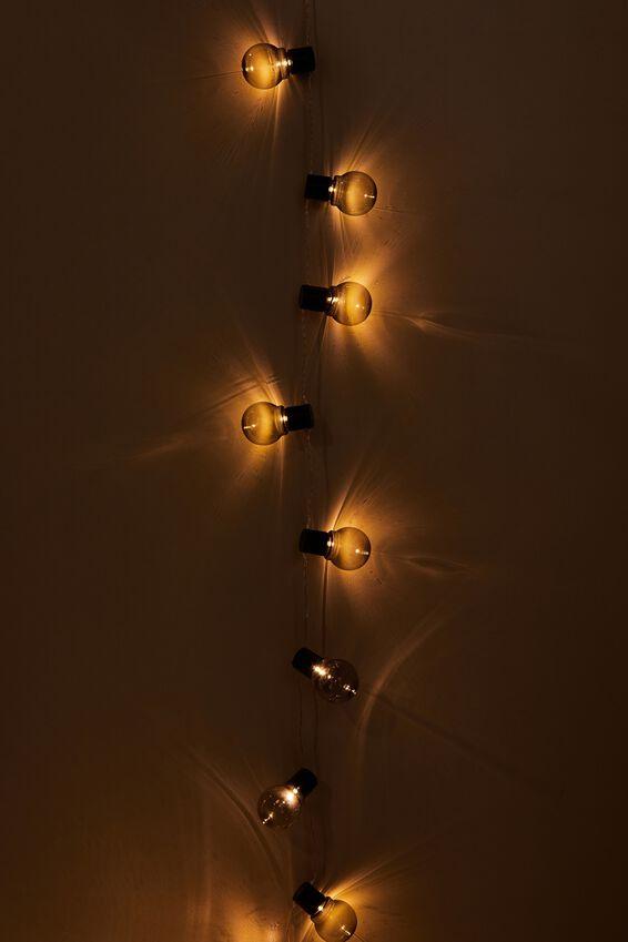 Usb Festoon String Lights 20L, LILAC BULBS
