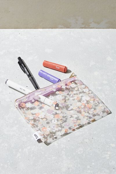 Clear It Pencil Case, DOLLY DAISY CLEAR
