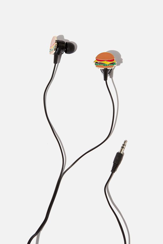 Novelty Earphones, BURGER