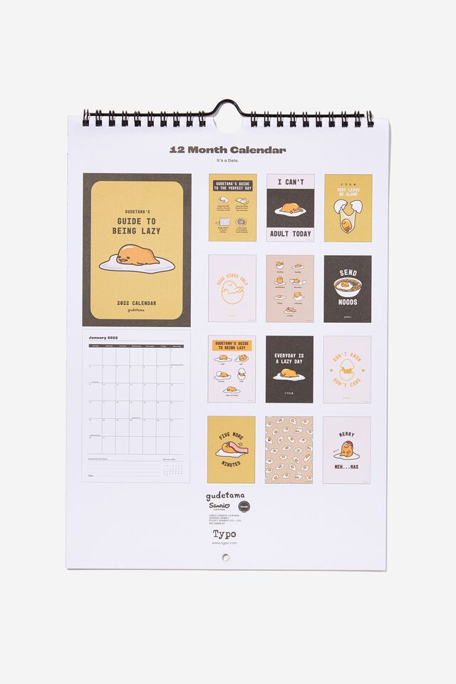 2022 Gudetama Get A Date Calendar, LCN SAN GUDETAMA