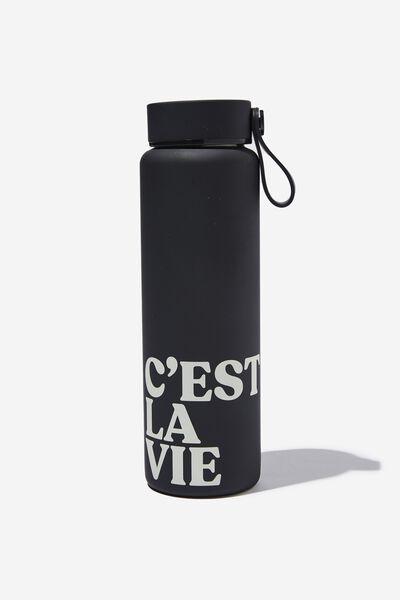 On The Move Metal Drink Bottle 500Ml, C EST LA VIE