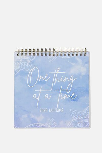 2020 Get A Date Flip Desk Calendar, BOHO
