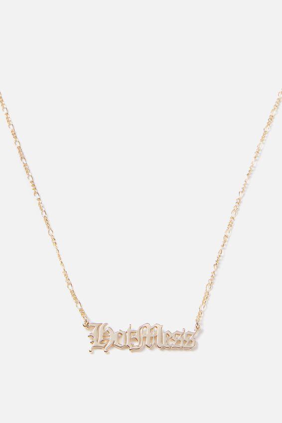 Novelty Necklace, HOT MESS