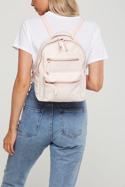 Mini Backpack, BLUSH LACE