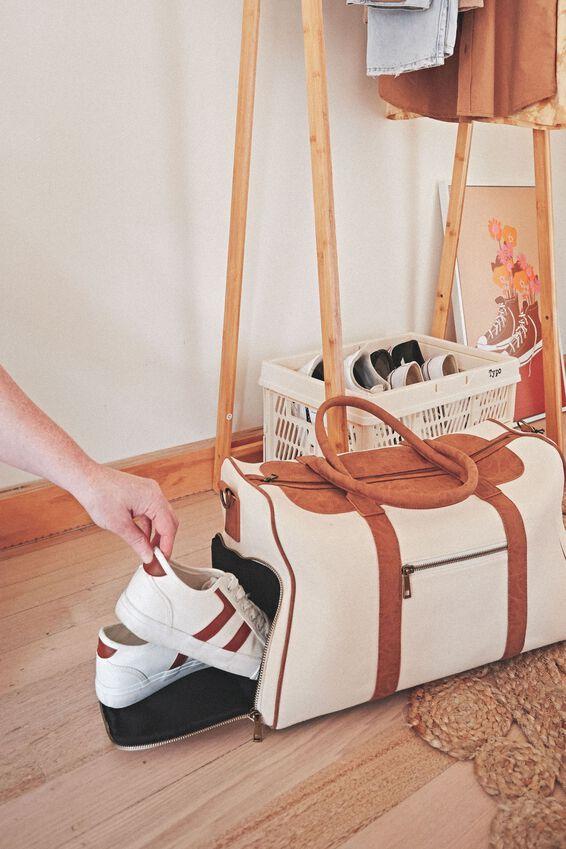 Nuevo Overnighter Bag Cvs, NATURAL AND MID TAN