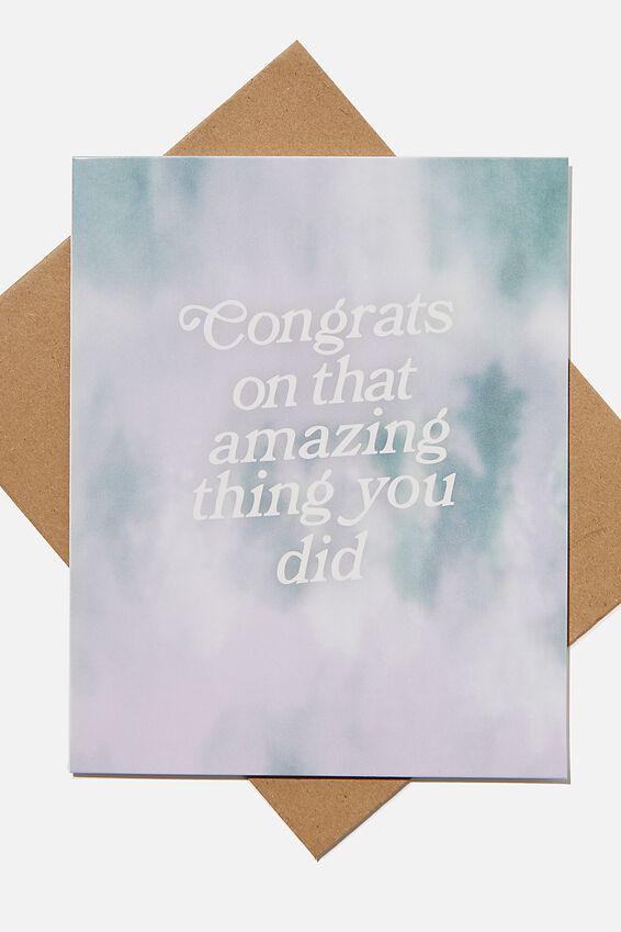 Congratulations Card, CONGRATS TIE DYE LILAC
