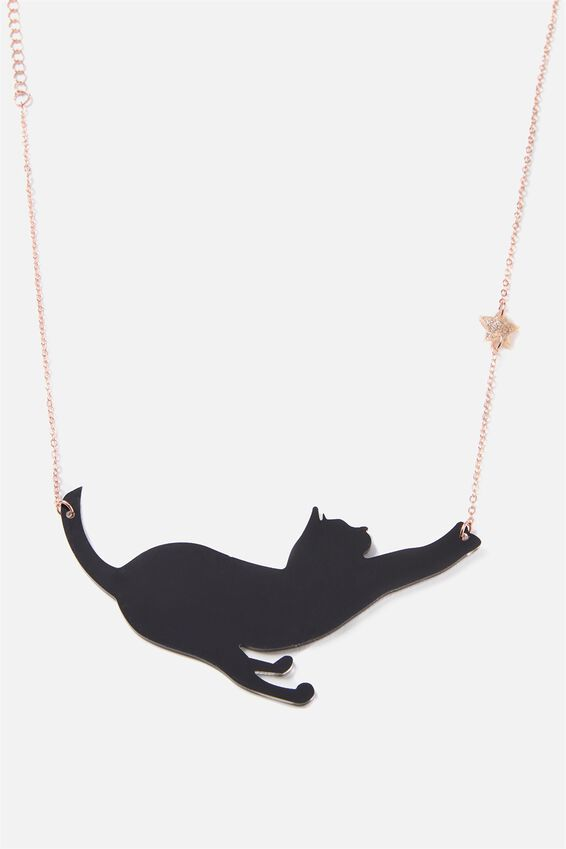 Premium Novelty Necklace, BLACK MAGIC CAT
