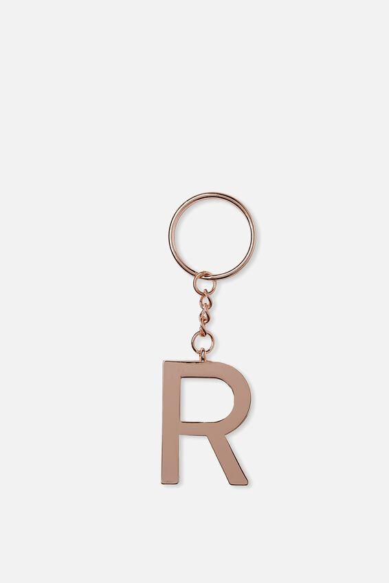 Alphabet Keyring, ROSE GOLD R