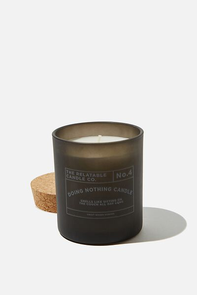 Relatable Quote Candle, BLACK COUCH ALL DAY