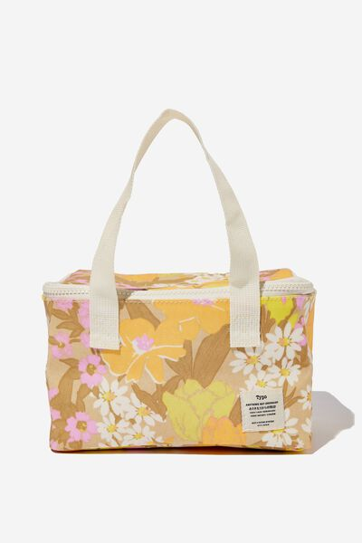BYO Lunch Bag, GOLDIE FLORAL SAND