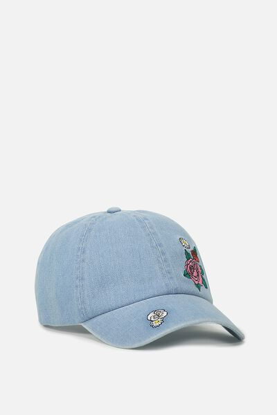 Novelty Caps, CHAMBRAY FLORAL