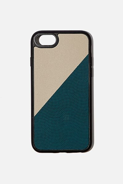 Snap On Protective Phone Case 6, 7, 8, TEAL SPLICE