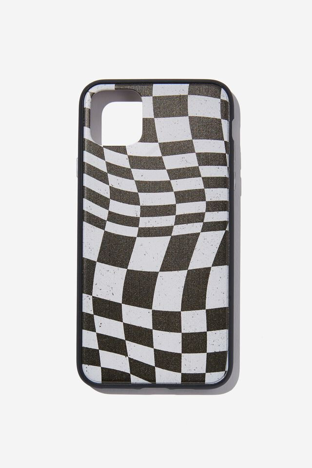 Protective Phone Case Iphone 11 Pro Max, WARPED CHECKERBOARD