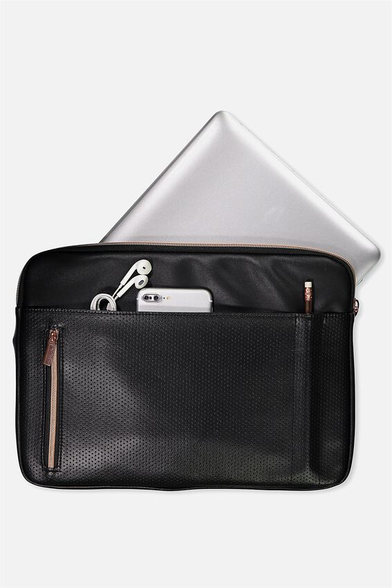 Take Charge Laptop Cover 13 inch, BLACK LUXE