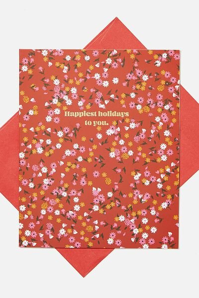 Christmas Card 2020, HAPPIEST HOLIDAYS DITSY FLORAL