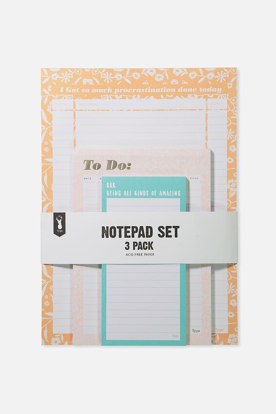 Notepad 3Pk, LACE