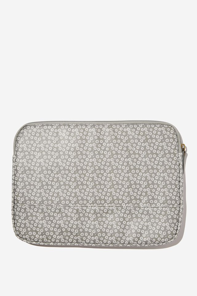 Take Me Away 13 Inch Laptop Case, CHECKERBOARD DAISY CLAY