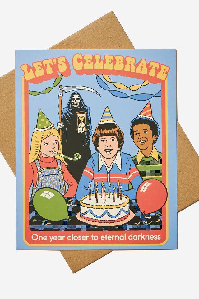 Steven Rhodes Funny Birthday Card, LCN STE STEVEN RHODES ETERNAL DARKNESS!