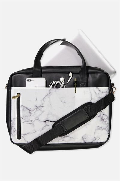 "Take Charge Laptop Bag 15"", MARBLE"