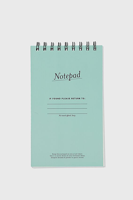 Flipout Notepad Recycled, NOTEPAD SOFT MOSS