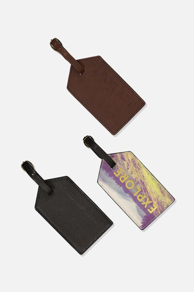 3Pc Luggage Tag Set, OUTDOOR ADVENTURE