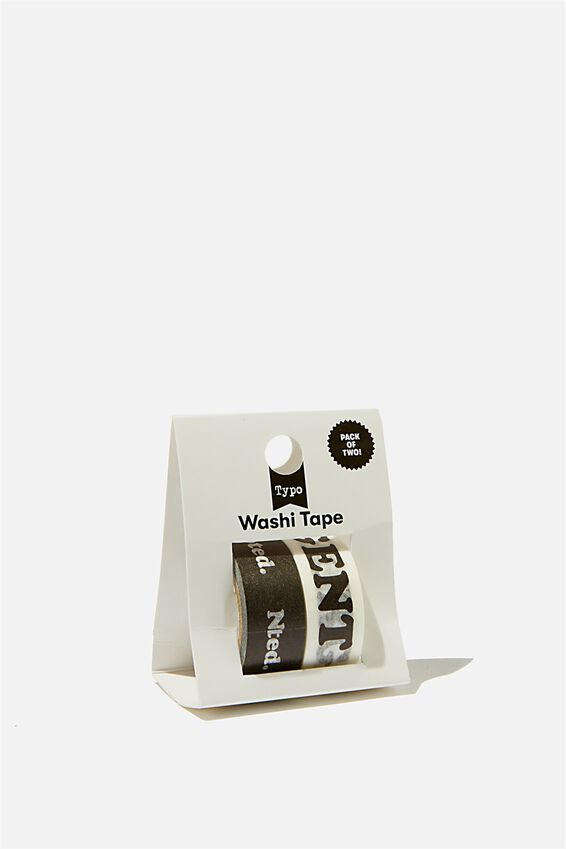 Washi Tape 2Pk, BLACK URGENT