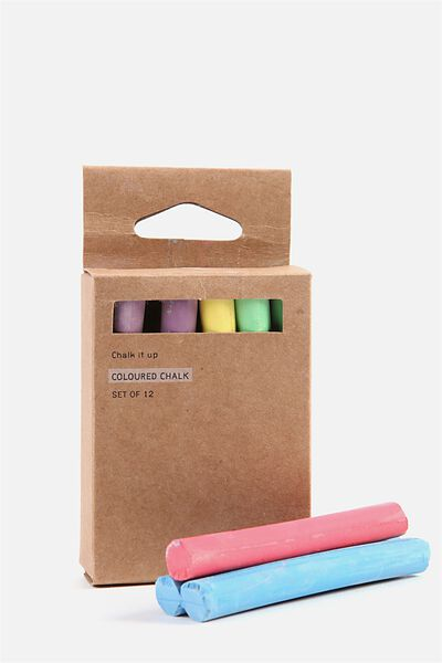 Chalk 12Pk, COLOURED