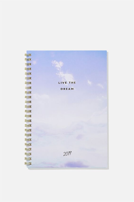 2019 Hardcover Spiral Diary, LIVE THE DREAM