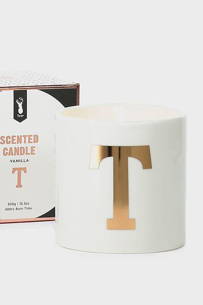Ceramic Jar Candle, ROSE GOLD T