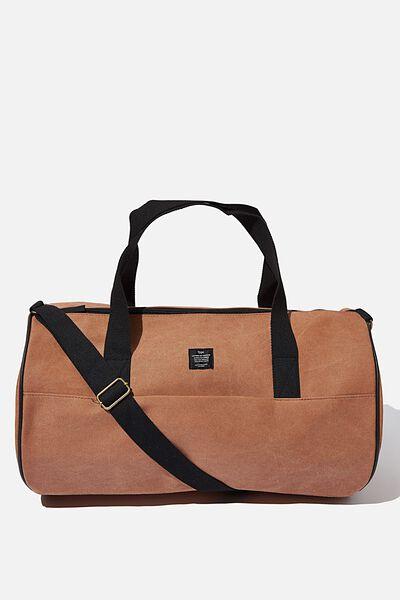 Canvas Barrel Bag, MID TAN