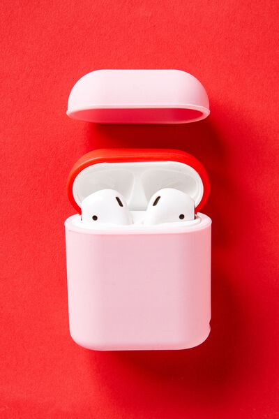 Ear Bud Sleeve, PLASTIC PINK & TRUE RED