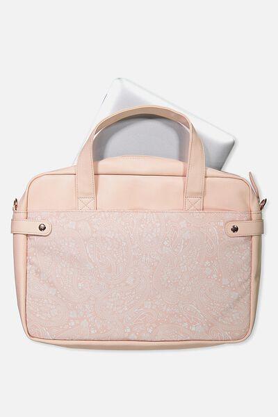 Varsity Laptop Bag, BLUSH LACE