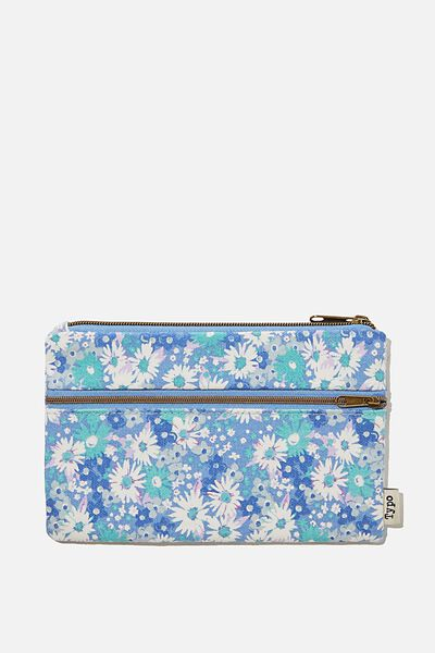 Archer Pencil Case, DITSY CORNFLOWER