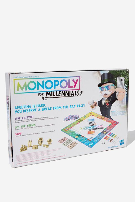 Millenial Monopoly Board Game, MILLENIAL MONOPOLY