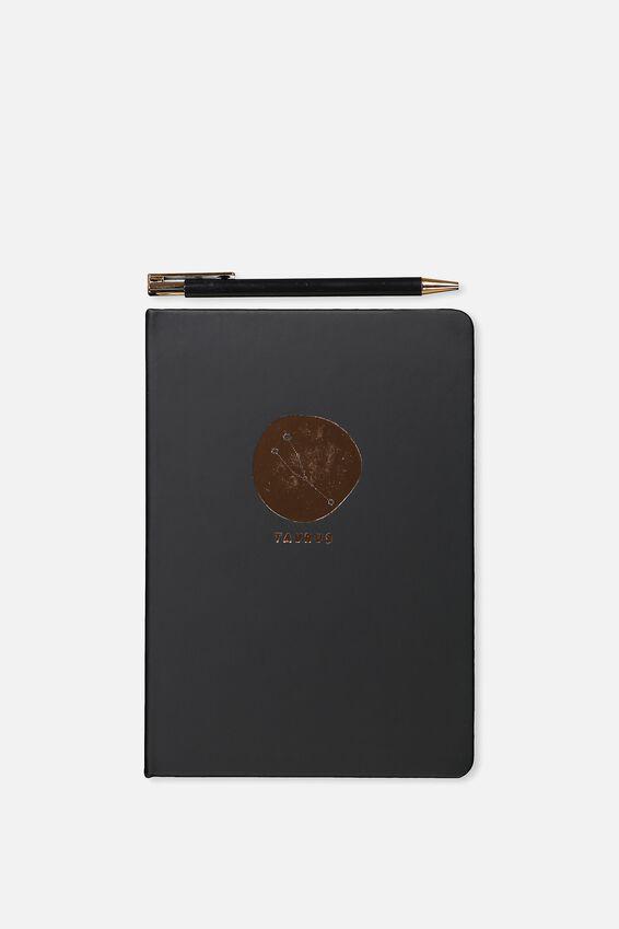 Notebook And Pen Set, ZODIAC TAURUS