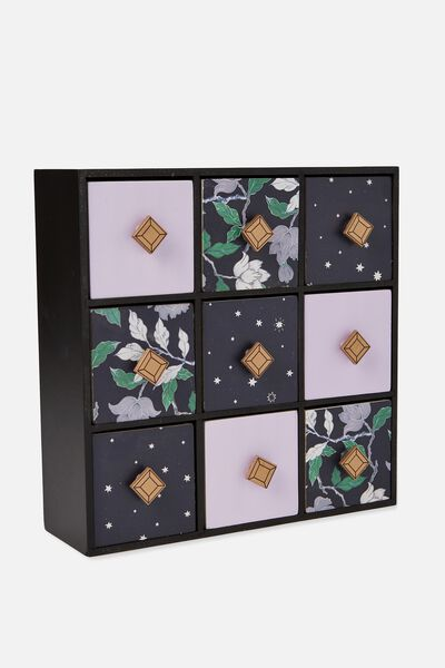 Square Quick Drawer Storage, LUSH FLORAL