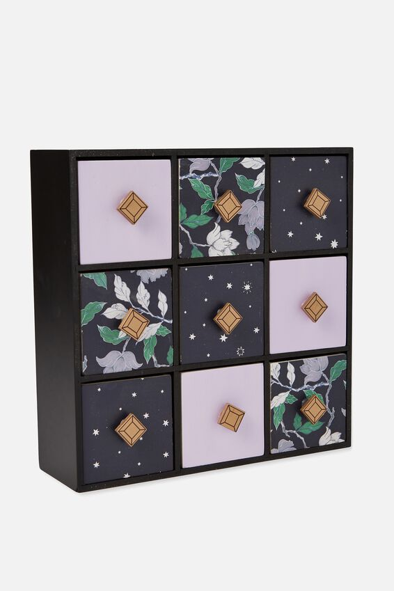 Square Quick Drawer Storage, LUSH FLORAL