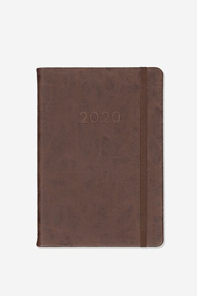 "2020 A5 Weekly Buffalo Diary (8.27"" x 5.83""), RICH TAN"