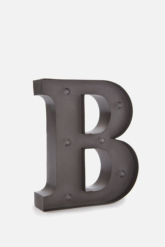 Midi Marquee Letter Lights 6.3inch, SILVER B