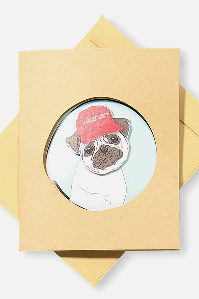 Specialty Funny Birthday Card, MOVEMENT MAKE BDAYS GREAT AGAIN