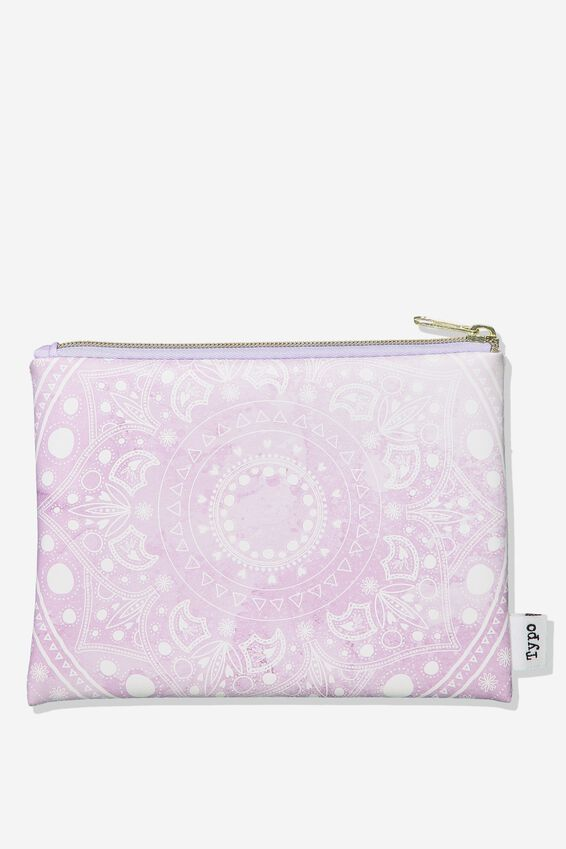 Pu Campus Pencil Case, LILAC MANDALA