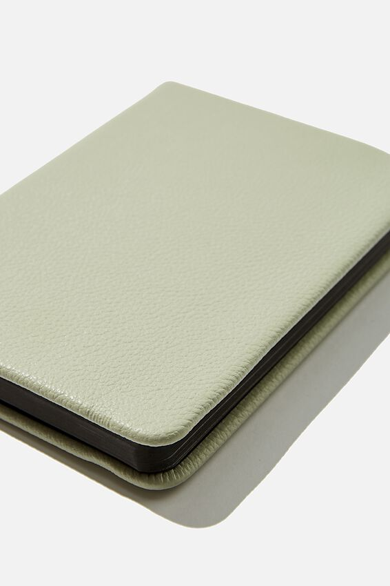 "A6 Buffalo Dot Journal (5.8"" x 4.1""), WASHED SAGE"