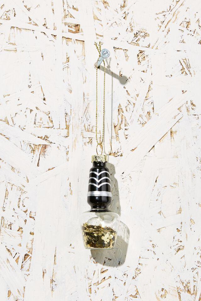 Small Glass Christmas Ornament, NAIL POLISH